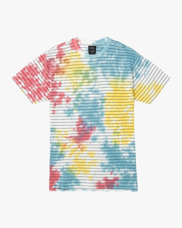 0 Boy's Automatic Stripe Tie Dye T-Shirt Multicolor B905URCS RVCA