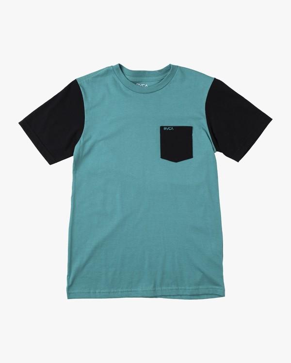 0 BOYS OLLIE COLOR BLOCK TEE Blue B905UROL RVCA