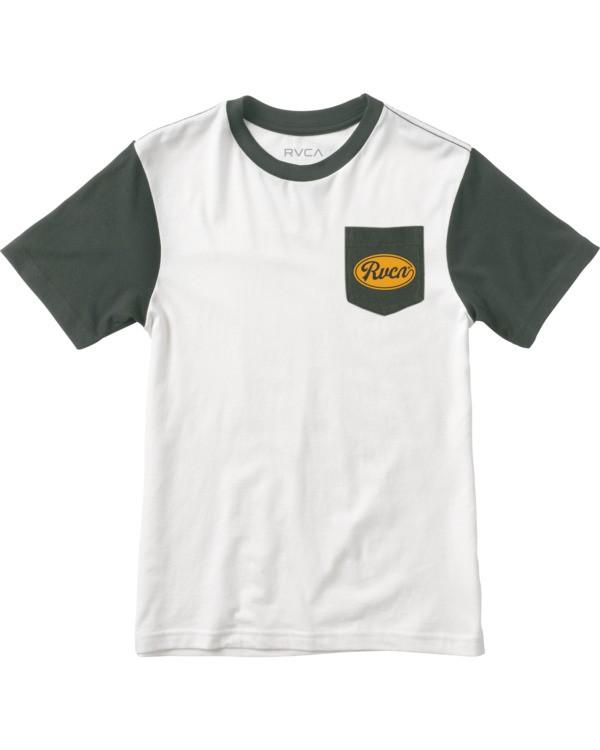 0 Ben Horton | Boys' Ollie Color Block T-Shirt White B905UROL RVCA