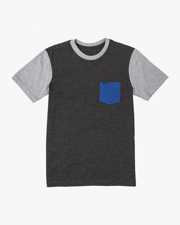 0 Boy's Ollie Color Block T-Shirt Grey B905UROL RVCA