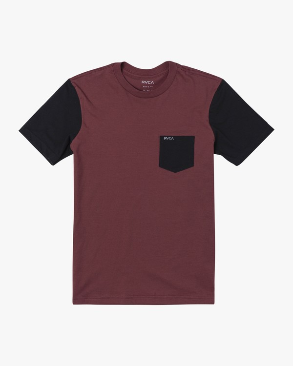 0 BOYS OLLIE COLOR BLOCK TEE Red B905UROL RVCA