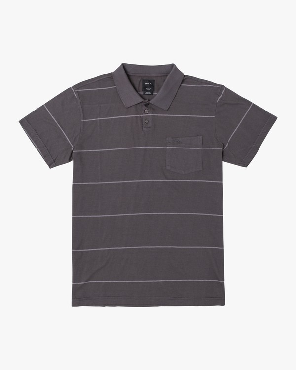 0 PTC STRIPE POLO Black B9092RPS RVCA