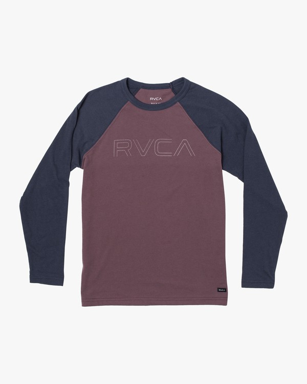 0 Boys Vale Raglan Long Sleeve T-Shirt Red B911VRVA RVCA