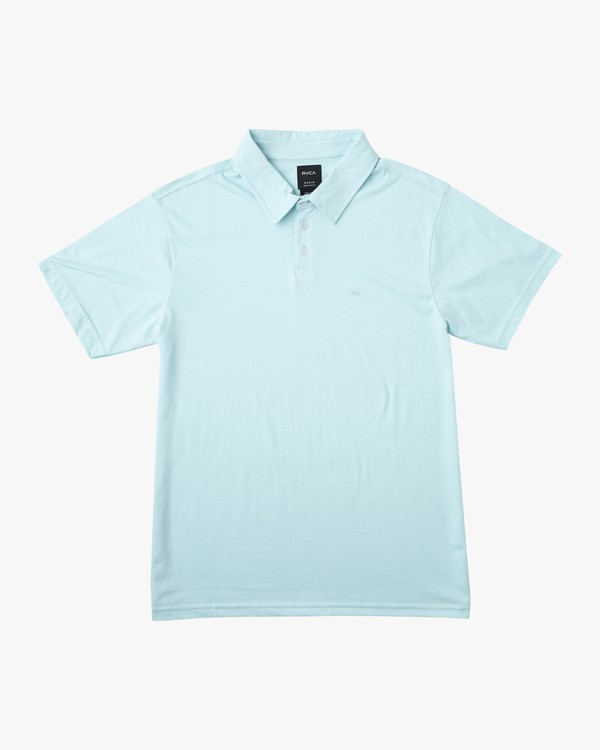 0 Boys Sure Thing ANP Polo Shirt White B915TRSU RVCA