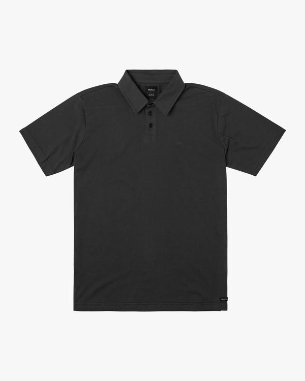 0 Boys Sure Thing ANP Polo Shirt Black B915TRSU RVCA