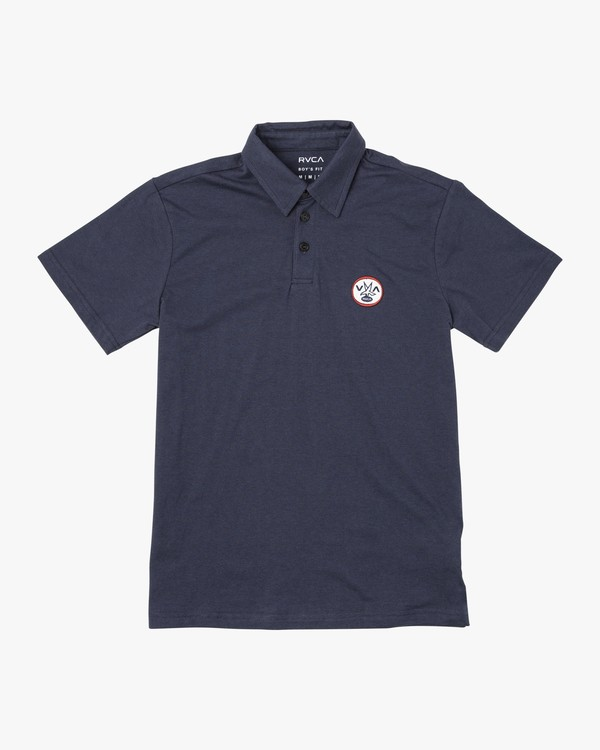 0 BOY'S SURE THING III POLO SHIRT Blue B9201RSU RVCA