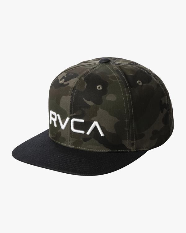 0 BOYS TWILL II SNAPBACK HAT Green BAAHWRTS RVCA