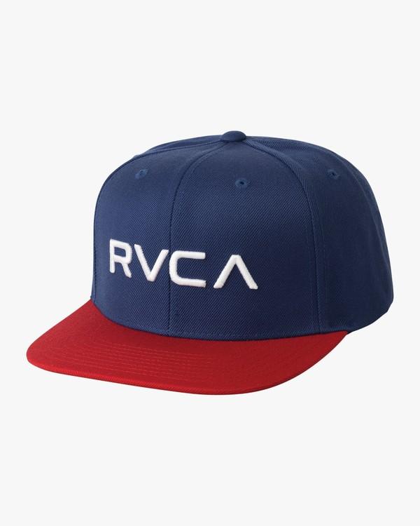 0 BOY'S RVCA TWILL SNAPBACK III HAT  BAAHWRTS RVCA