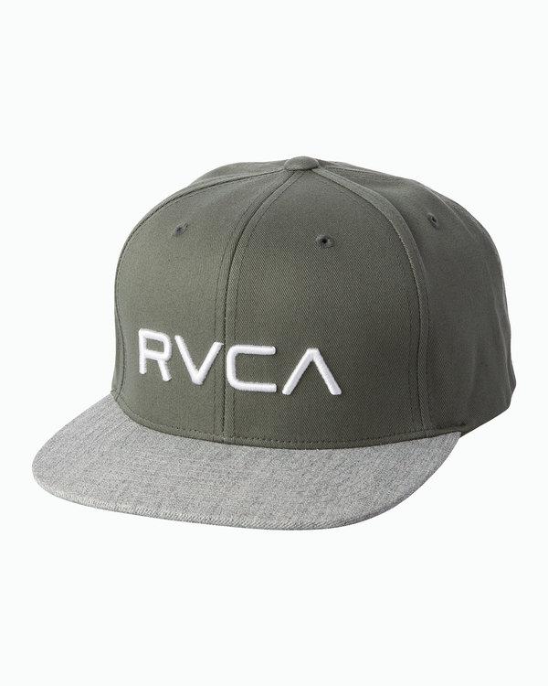 0 BOY'S RVCA TWILL SNAPBACK III HAT Grey BAAHWRTS RVCA