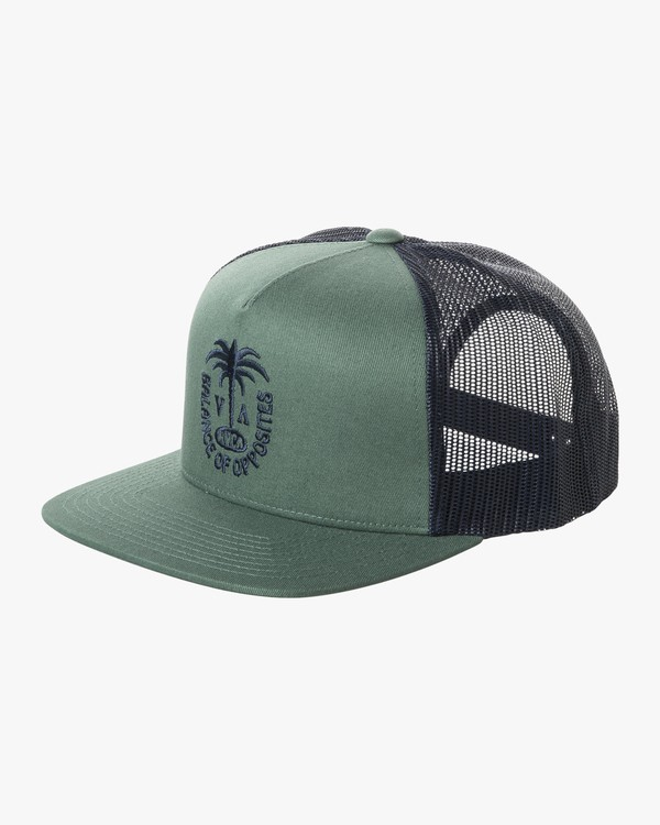 0 Boys PALMS TRUCKER BOYS Green BAHW2RPT RVCA