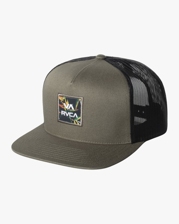 0 Boy's VA All The Way Trucker Hat Green BAHW2RVP RVCA