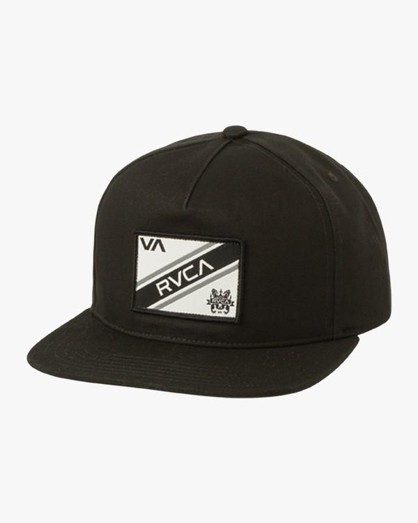 0 Boy's Places Snapback Hat Black BAHWSRNP RVCA