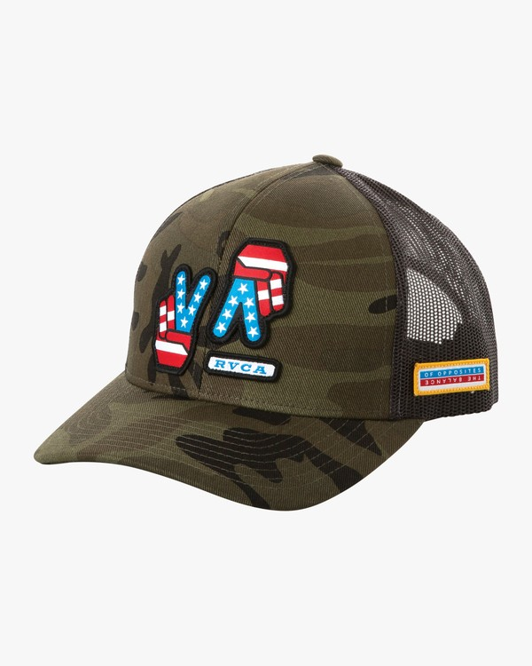 0 Boy's Freedom Trucker Hat Camo BAHWURFT RVCA