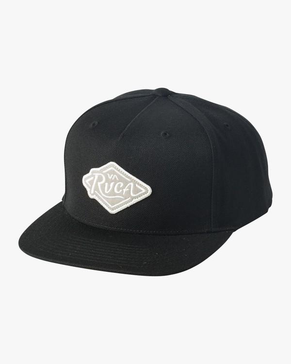 0 Boy's Script Snapback Hat Black BAHWVRSP RVCA
