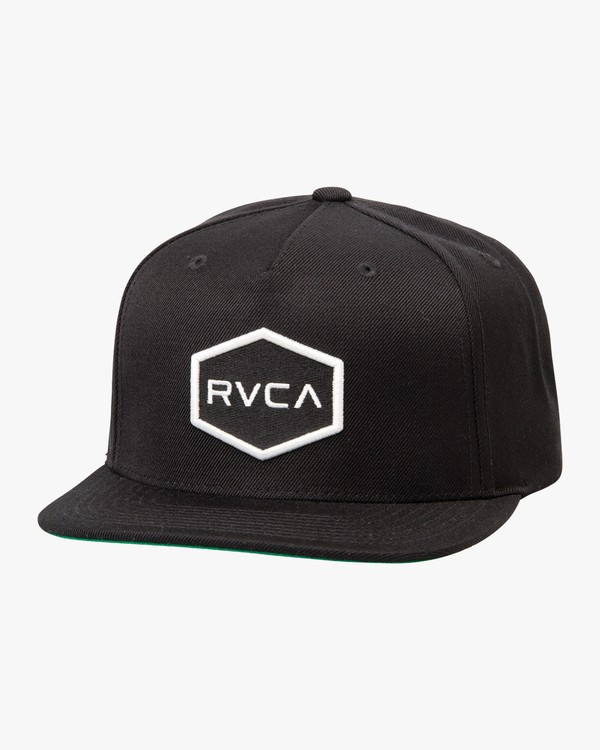 0 Boy's Commonwealth Snapback Hat Black BAHWWCWS RVCA