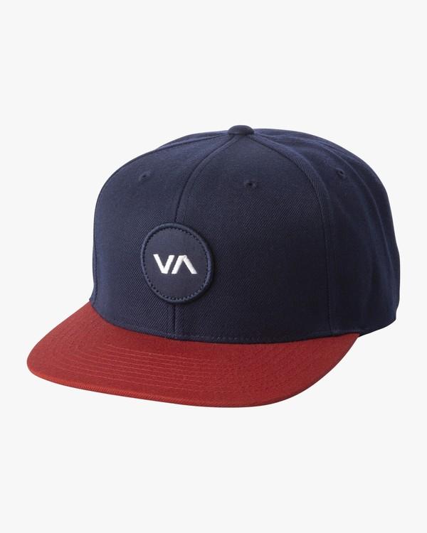 0 BOYS VA PATCH SNAPBACK HAT Blue BAHWWRVP RVCA