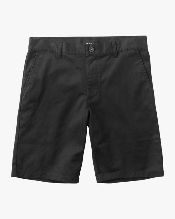 0 Boys Weekday Stretch Shorts Black BC201WST RVCA