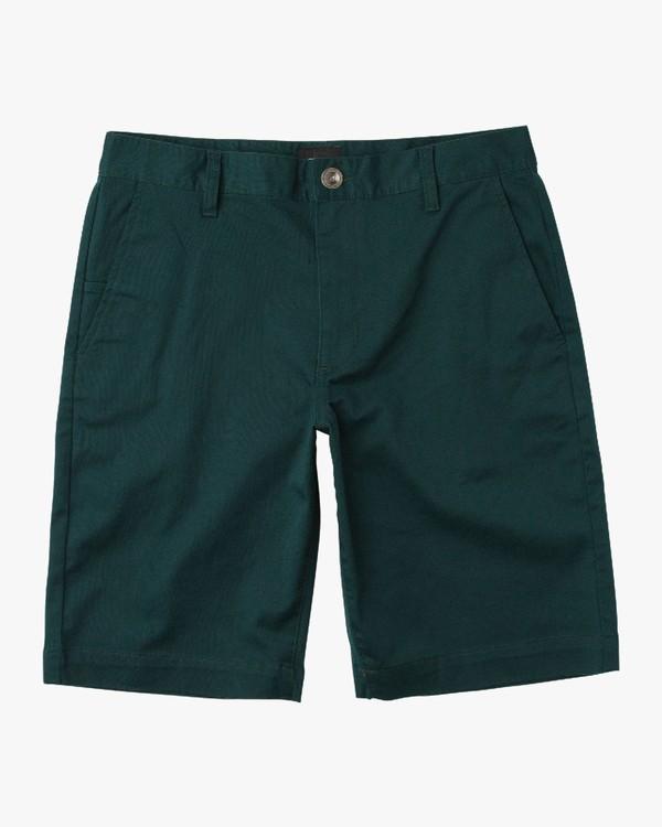 0 Boy's Weekday Stretch Shorts Green BC201WST RVCA
