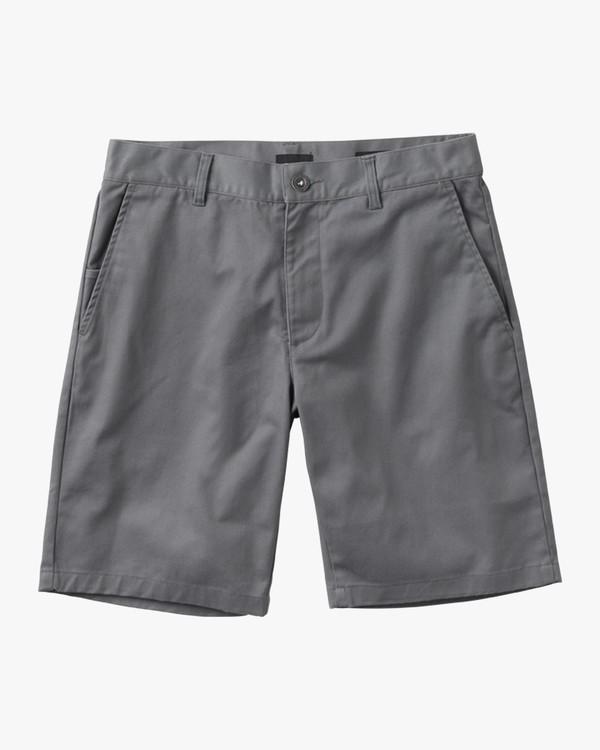 0 Boy's Weekday Stretch Shorts Grey BC201WST RVCA