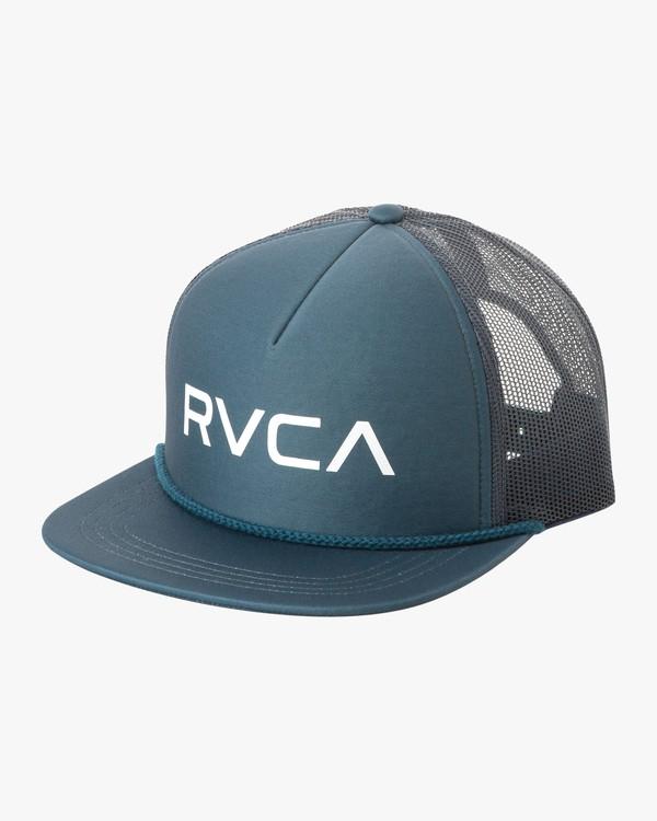 0 Boy's Foamy Trucker Hat Blue BJAHWRFT RVCA
