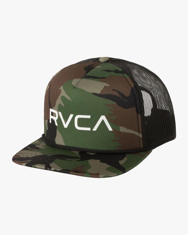 0 Boy's Foamy Trucker Hat Green BJAHWRFT RVCA