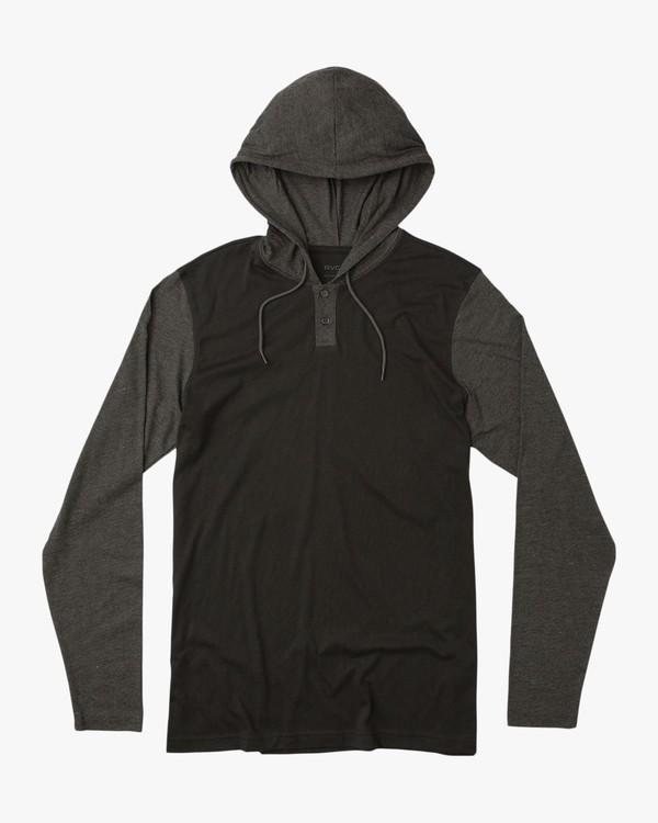 0 Boy's Pick Up Knit Hoodie Black BL904PUH RVCA
