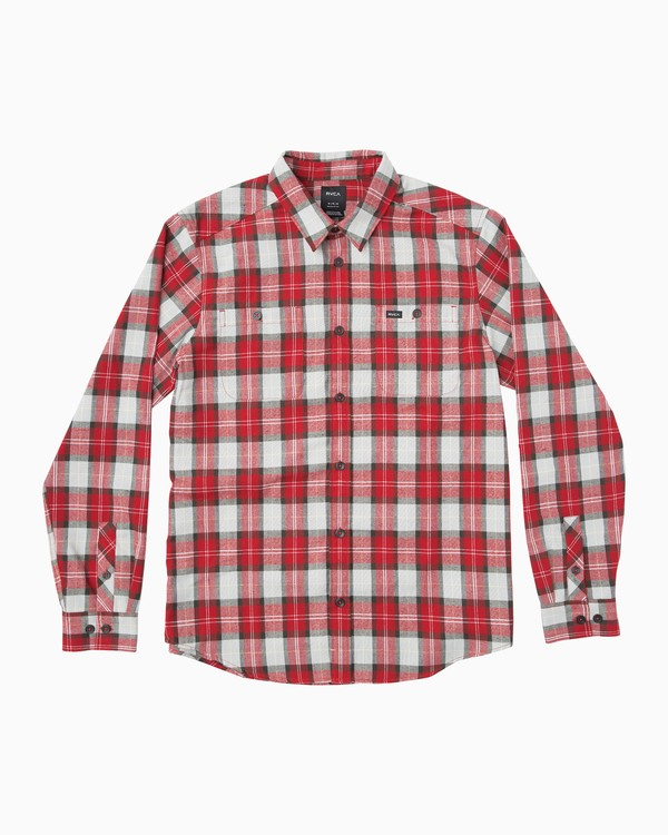 0 Boy's Bone Flannel Long Sleeve Shirt Red BM503BON RVCA