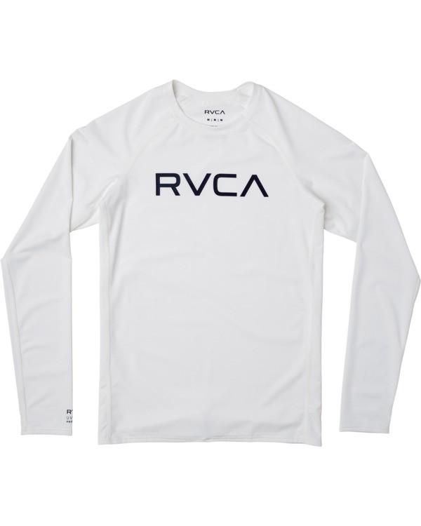 0 Boys RVCA Long Sleeve Rashguard White BR11TRLR RVCA