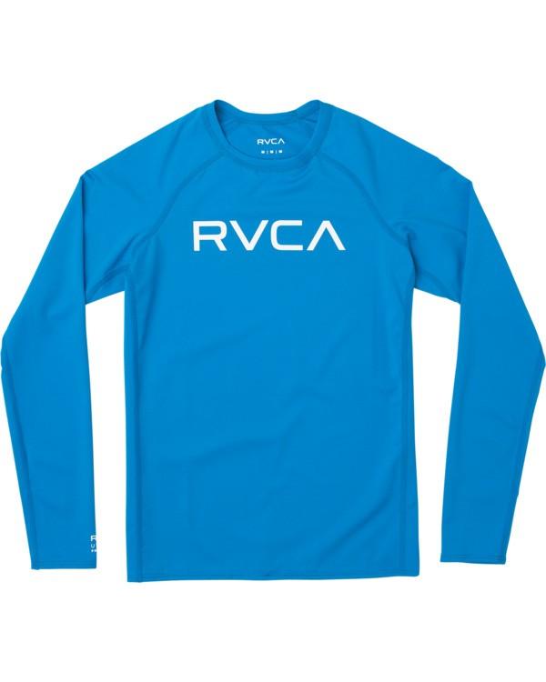 0 Boys RVCA Long Sleeve Rashguard Blue BR11TRLR RVCA
