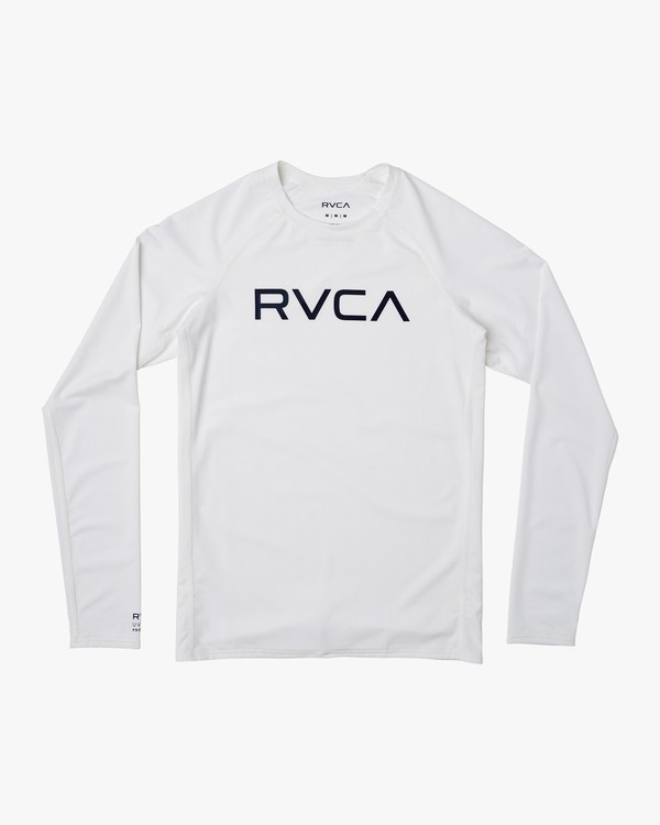 0 Boys RVCA Long Sleeve Rashguard White BR11TRLR RVCA
