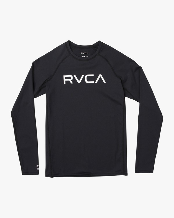 0 Boy's RVCA Long Sleeve Rashguard Black BR11TRLR RVCA