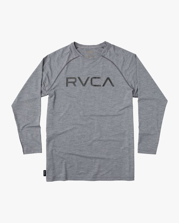 0 Boy's Micro Mesh Long Sleeve Surf Tee Grey BR52NRMM RVCA