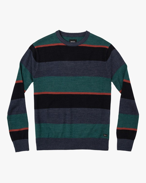 0 Boys Kemper Striped Sweater Blue BV31WRKE RVCA
