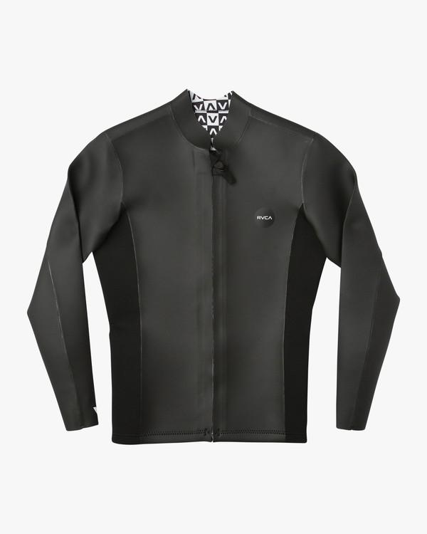 0 Front Zip Smoothie Jacket Black H42MRARVP8 RVCA