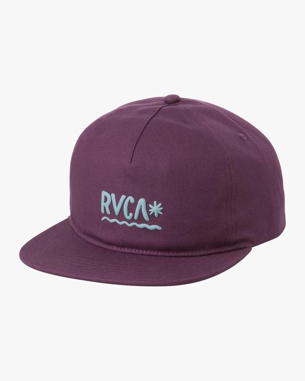 0 SQUIG SNAPBACK Purple H5CPRJRVP8 RVCA