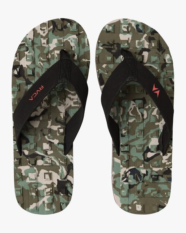 0 Wave Warrior Astrodeck - Sandales pour Homme Camo H5FFRARVP8 RVCA