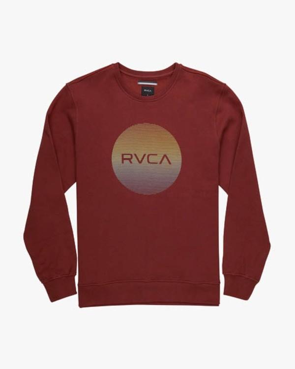 0 RVCA MOTORS CREW Red L1CRRBRVF8 RVCA
