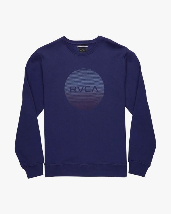 0 RVCA MOTORS CREW Blau L1CRRBRVF8 RVCA