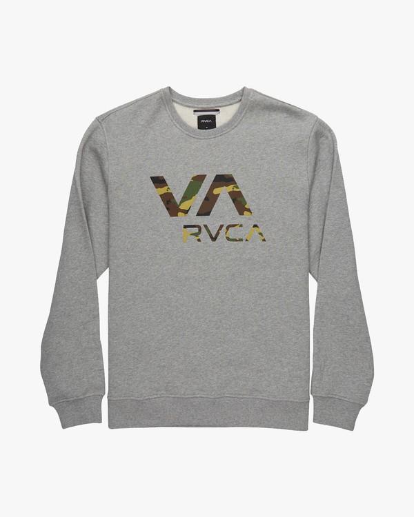 0 VA RVCA CREW Gris L1CRRCRVF8 RVCA