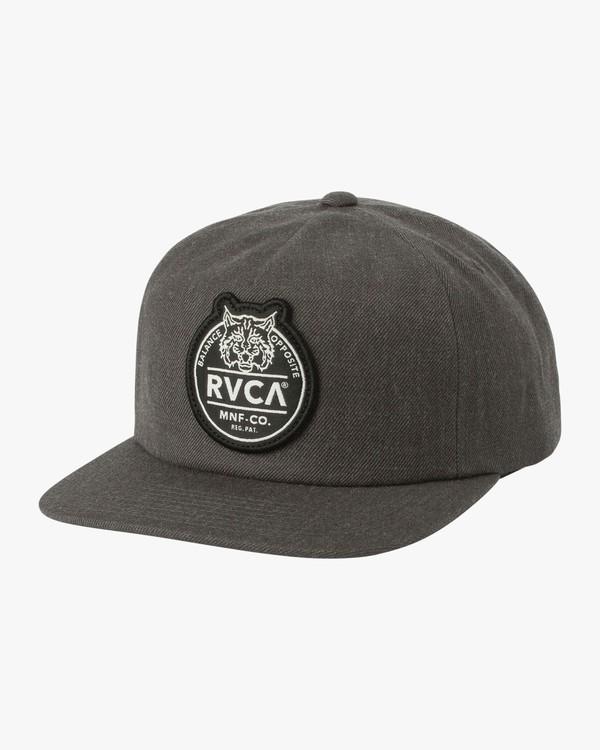 0 RVCA PATCH CAP Gris L5CPRGRVF8 RVCA