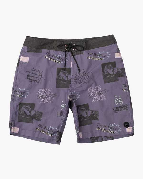 "0 Slappy Overdyed 17"" Trunk Purple M106VRST RVCA"