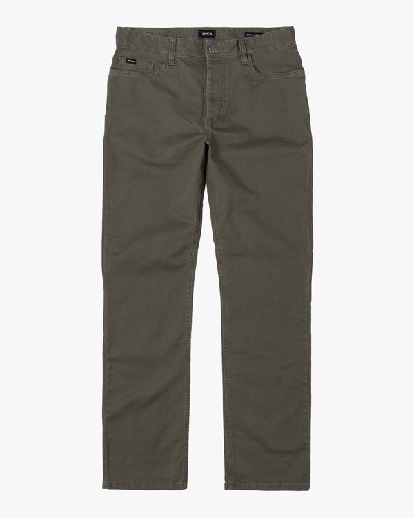 0 week-end 5-Pocket straight fit Pant Green M310VRWP RVCA
