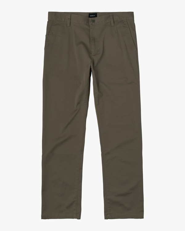 0 week-end Stretch straight fit Pant Green M3493RWS RVCA