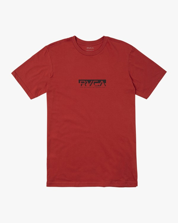 0 BLOCKED T-SHIRT Red M4011RBL RVCA