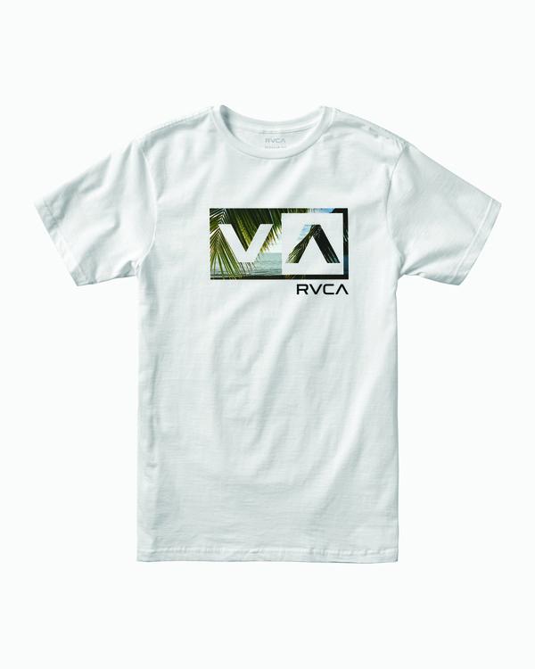 0 BALANCE BOX SHORT SLEEVE T-SHIRT White M4012RBA RVCA