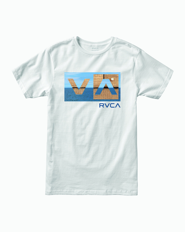 0 BALANCE BOX SHORT SLEEVE TEE White M4013RBA RVCA