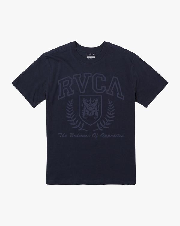 0 TONAL CREST SHORT SLEEVE TEE Blue M4103RTO RVCA