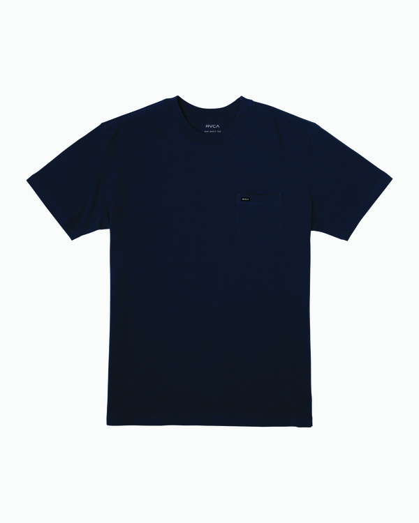 0 Dayshift Solid Label T-Shirt Blue M414VRSO RVCA