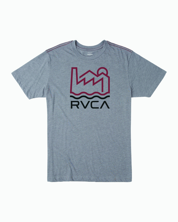 0 INDUSTRY LINE T-SHIRT Grey M4201RIN RVCA