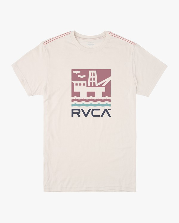 0 OFFSHORE SHORT SLEEVE TEE White M4202ROF RVCA